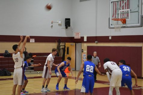 Chris Smith (Senior) shoots a free throw during the Coaches vs Cancer tournament championship